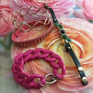 Pink bracelet bundle NWT